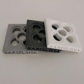 Posa vasos calados personalizables Flor de Barcelona, Panot en resina acrilica (13 colores)