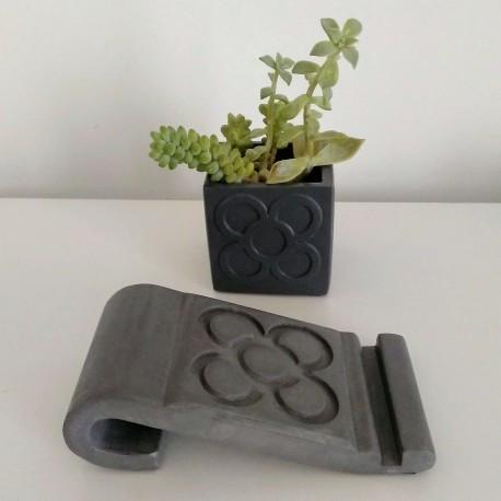 Phone holder Barcelona flower, Panot, tile