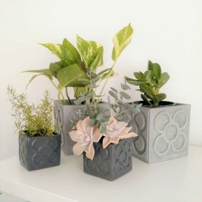 Large Panot cubic planter, flower tile, Barcelona flower, flowerpot