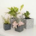 Large Panot cubic planter, flower tile, Barcelona flower, flowerpot