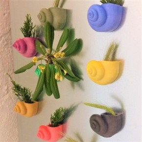 Sea snail vase with magnet