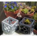 Large openwork Panot cubic planter 12 cm x 12 cm x 12 cm, flower tile, Barcelona flower