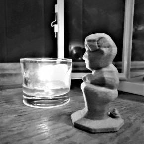 Figureta de Caganer en resina ceràmica