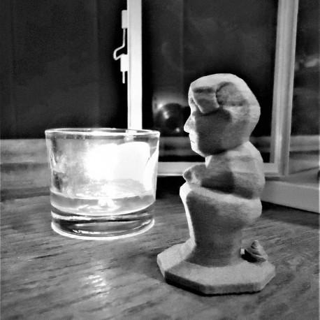 Figurine of Caganer in ceramic resin