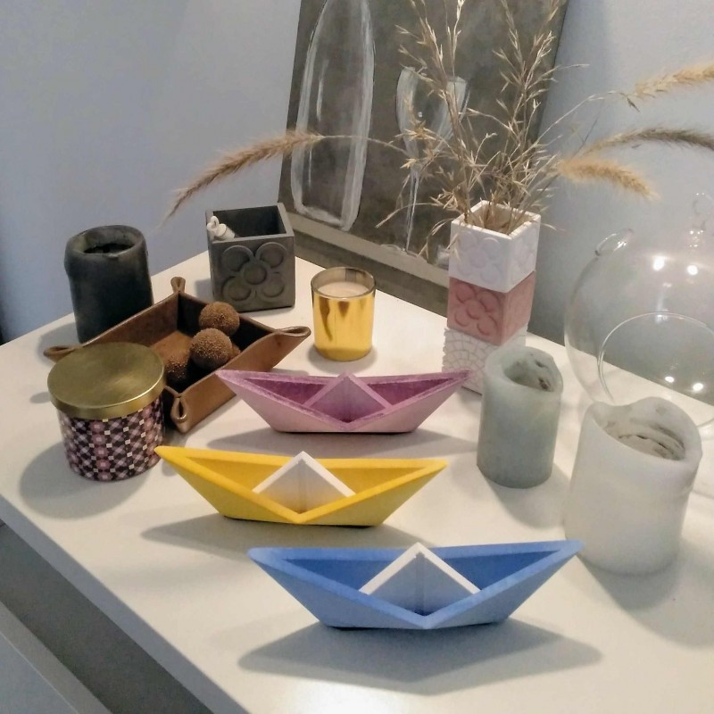 Grand Voilier Style Origami Personnalisable Bateau Design Exclusif