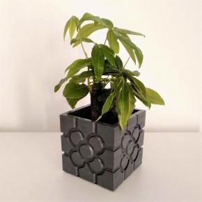 Large Bilbao cubic planter, flower tile, Bilbao flower, flowerpot