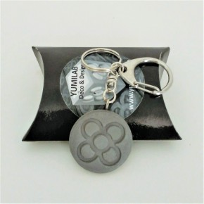 keychain with Panot round pendant in ceramic resin