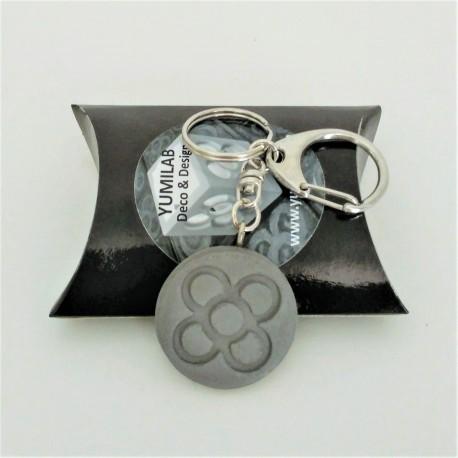 porte-clés pendentif rond Panot en résine céramique
