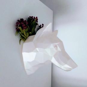 Cabeza decorativa de Lobo