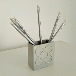 Porte-stylos Panot rectangulaire, fleur de Barcelone