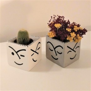 Square pot Faces