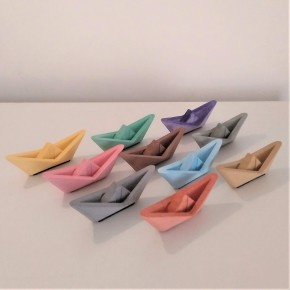 10 Mini Sailboats in origami style