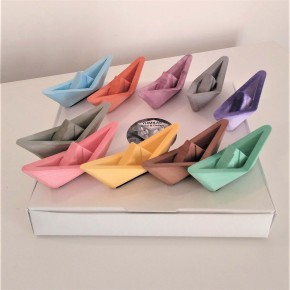 10 Mini Sailboats in origami style