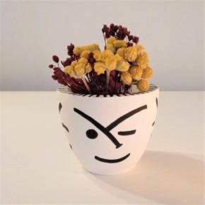 Mini pot rond Visages