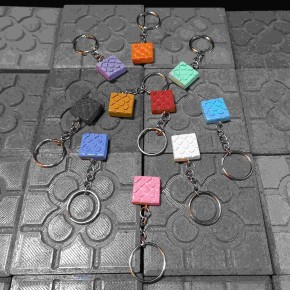 10 key chains with Bilbao rosette pendant
