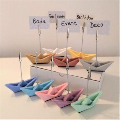 10 mini voiliers clip porte-photo en origami