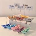 10 mini origami sailboats photo holder clip
