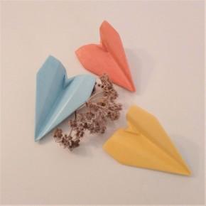 3 mini avions de style origami