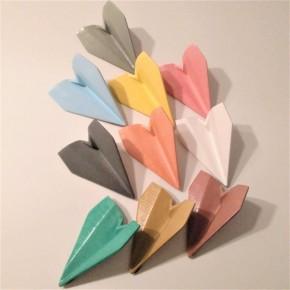 10 mini avions de style origami