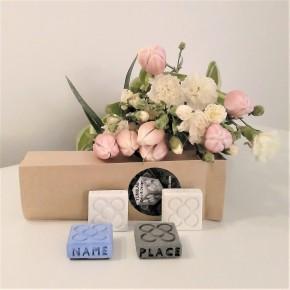 100 MINI magnets personalitzables Flor de Barcelona
