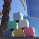 Pot cubique en forme de nuage