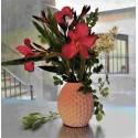 Vase ananas en résine céramique