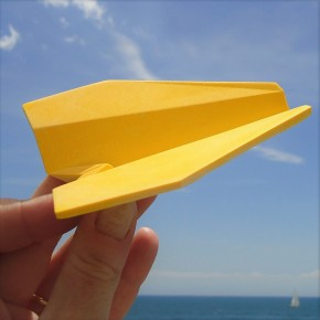 "Customizable ""origami"" airplane square tip"