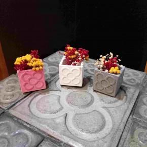 Lot of 3 Mini Cubic Pots Panots