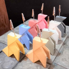 8 customizable origami style paper bird clip