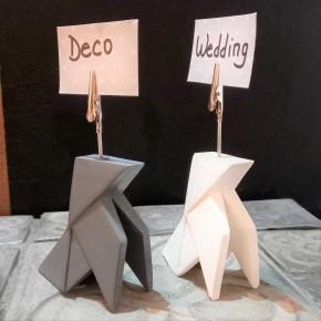 2 clips de nota ocell de paper d'estil origami personalitzable