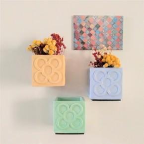 Lot of 3 Mini Cubic Magnetic Pots Panots