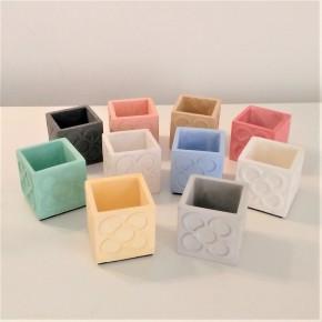 10 pots cubiques Panots personnalisables