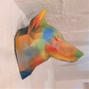 Cabeza decorativa de Lobo Graffiti