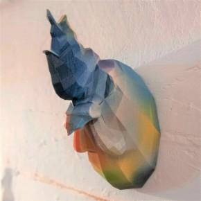 Cabeza decorativa de gallo diseño Graffiti