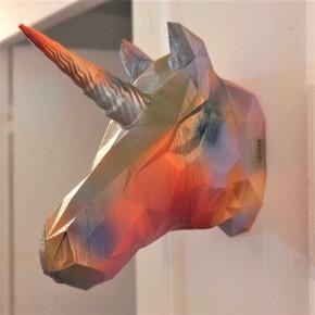 Cabeza decorativa de Unicornio Graffiti