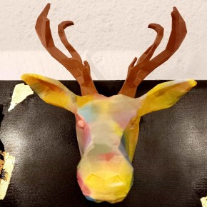 Deer decorative head Graffiti design