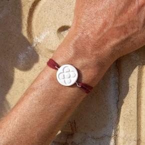 Bracelet de main Fleur de Barcelone, Panot rond