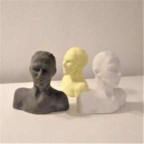 Man bust in ceramic resin