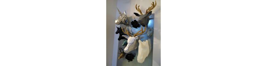 Cabezas decorativas animales