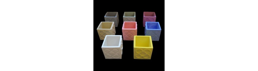 10 cubic pots Panots customizable, tile flower of Barcelona