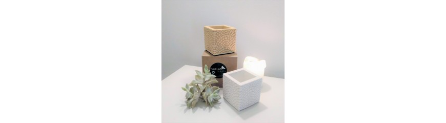 Cubic Pot Paris cobblestones